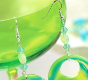 Seaside Blue & Green Bead Earrings