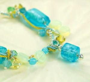 Seaside Blue & Green Bead Bracelet