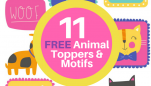 11 FREE Animal Toppers & Motifs To Download