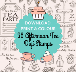 36 Afternoon Tea Digi Stamps