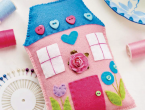 Sweet Stitched Cottage Pincushion