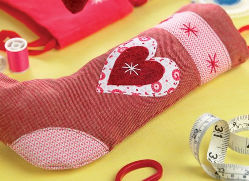 Scandi Embroidered Christmas Stocking