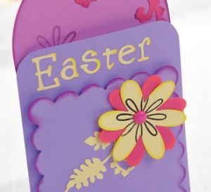 Die-cut Easter Greeting Card