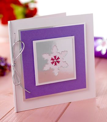 Snowflake Card & Christmas Cracker Making