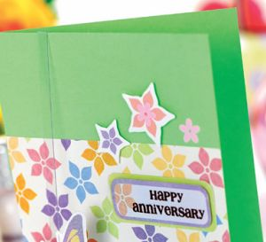Dimensional Butterfly Happy Anniversary Card