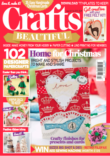 Crafts Beautiful December 2013 (issue 261) Template Pack