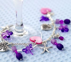 Girly Pink, Purple & Silver Jewellery Set