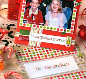 Christmas Children's Scrapbook Layout