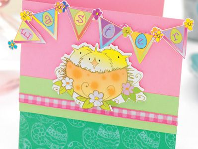 Three Little Chicks Easter Card