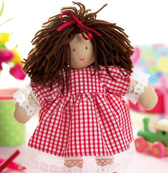 Gingham Stitched Dolly Pattern