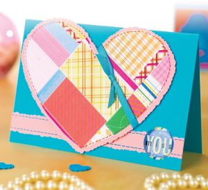 Patchwork Paper Heart Card