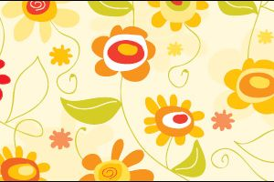Retro Sunshine & Flowers Sentiments & Free Papers