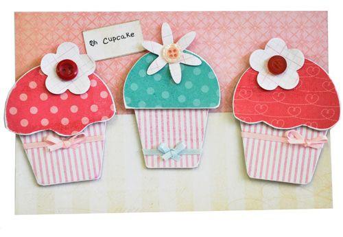 Diecut Cupcake Birthday Cards Free Craft Project – Cupcake Birthday Cards