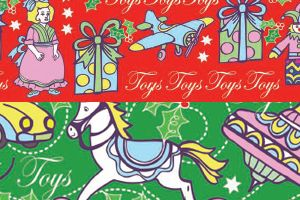 Vintage Christmas Free Card Toppers