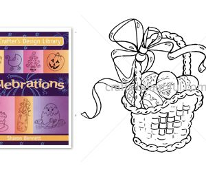 Easter Egg Basket Free Digital Stamp