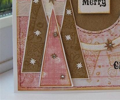 Pink Punched Christmas Card