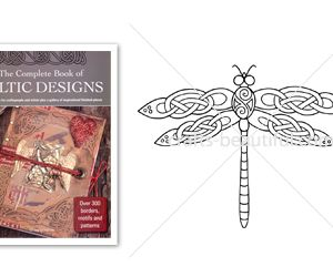 Intricate Celtic Dragonfly Free Digital Download