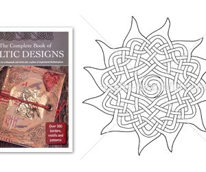 Pretty Celtic Sun Motif Free Digital Download