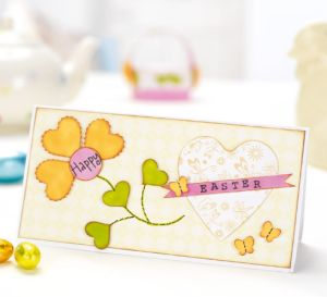 Faux Stitching Bright Easter Cards