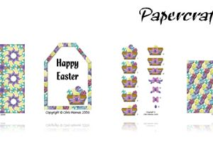Retro Egg Easter Free Papers
