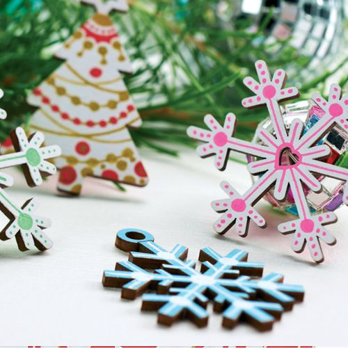 Pen Painted Wooden Blank Christmas Decorations
