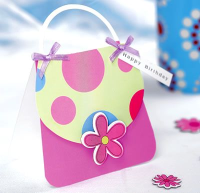 Girly Handbag Shaped Card