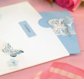 3-D Butterfly Wedding Invitations