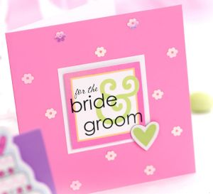 Easy Bride & Groom Wedding Card