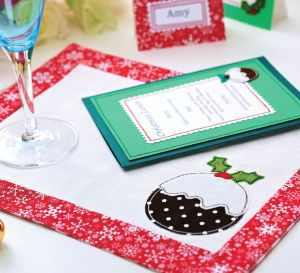Applique Christmas Table Decorations