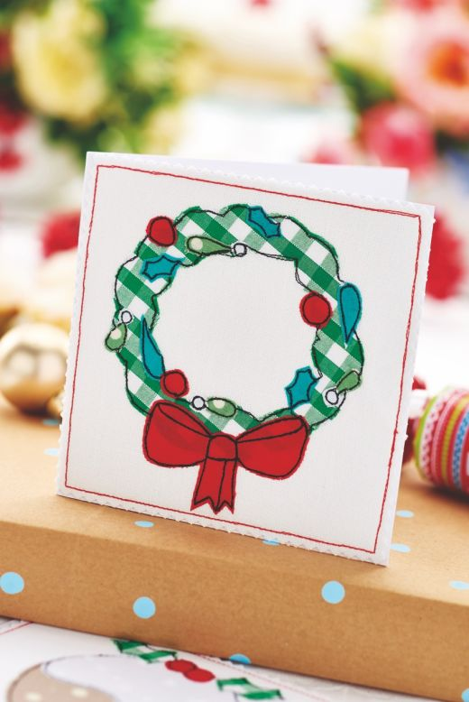 Fabric Appliqu 233 Christmas Cards Free Craft Project