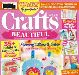 Crafts Beautiful April 2016 Issue 291 Template Pack