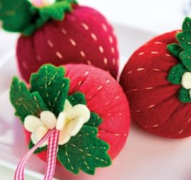 Strawberry Pincushion Template