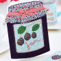 Berry Jam Fabric Card