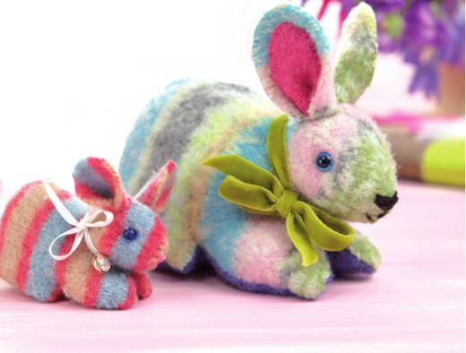 Felted Bunny Upcycling Project