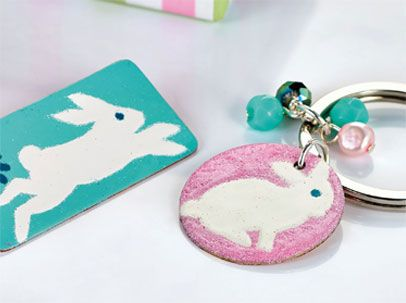 Enamelled Bunny Brooch Free Craft Project Jewellery