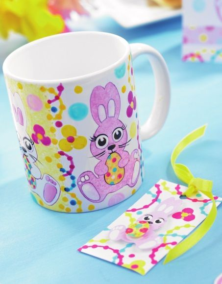 Easter China Painting Mug Tutorial