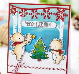 Bear Family Christmas Card