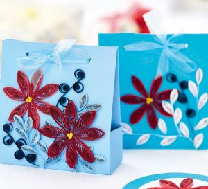Quilled Poinsettia Set