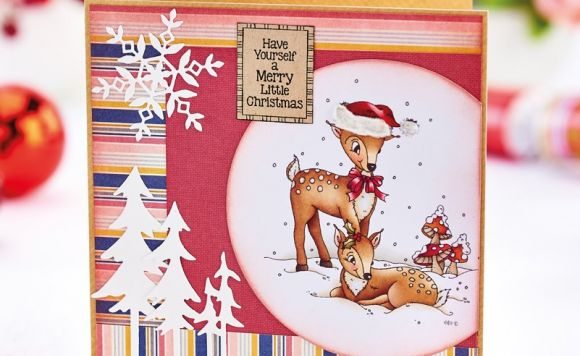 Dainty Deer Christmas Card