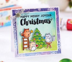 Cute & Bright Christmas Scene Card