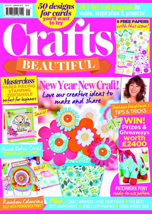 Crafts Beautiful January 2017 Issue 301 Template Pack