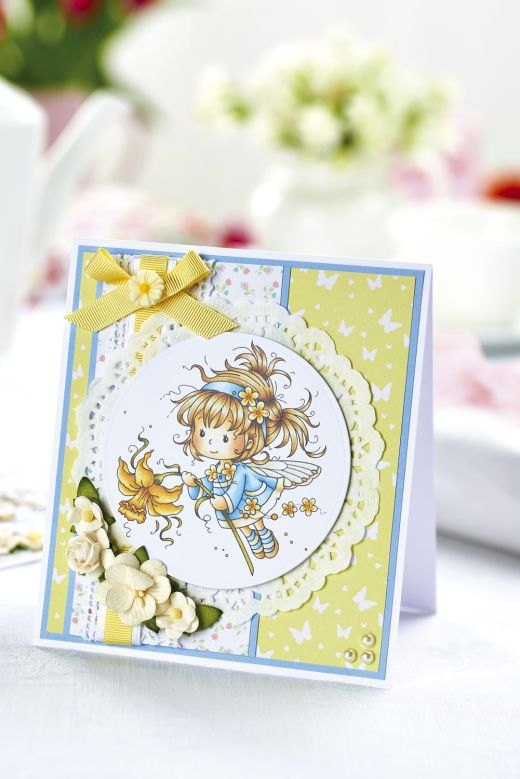 Daffodil Fairy Card