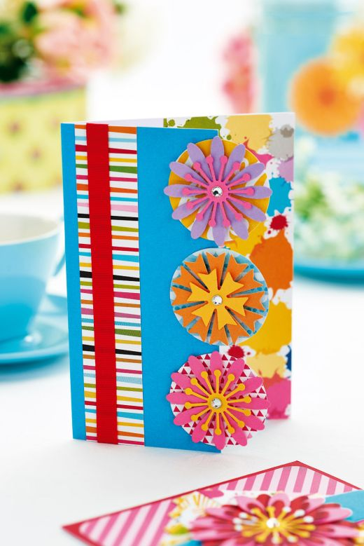 Five Layered Flower Cards