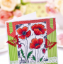 Layered and Embellished Pretty Poppies