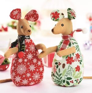 Easy Stitched Festive Mice