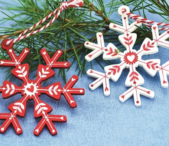 Scandi-Inspired Wooden Christmas Decorations