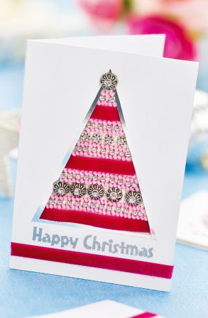 Beaded Cross-stitch Christmas Cards