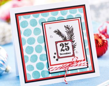 Stencil Heat Embossed Cards
