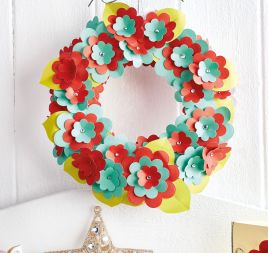 Paper Christmas Wreath + Card