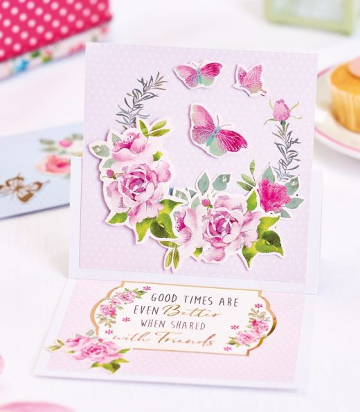Floral Fancy Foiled Cards